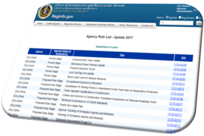 Mine Safety and Health Administration (MSHA) Regulatory Plan