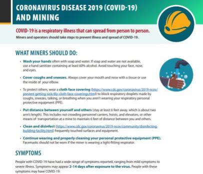 COVID-19 cdc miners snip